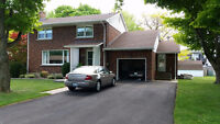 Large 3 bedroom 2300 sq feet home on beautiful lot in Welland !
