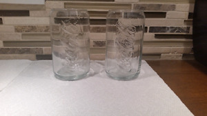 Coca-Cola Glasses Clear Retro Coke Can Size and shape - Set of 2
