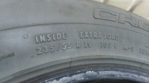 2 excellent all season tires Continental 235/55R19 $160 for 2