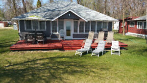 Lakefront/waterfront cottage/cabin rent/rental Winnipeg beach MB