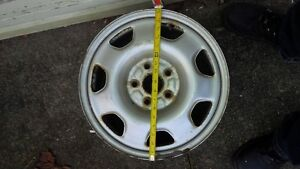 Four 16 inch winter rims 5 bolt holes