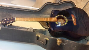 Cort 6 string acoustic guitar with amp device.. paid 550$ want 2