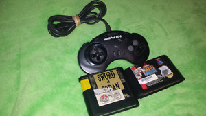 For sale, Sega Genesis controller with games 12 firm.