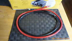4 ft. Inverter / Batt cables, Stranded  Copper 2 Ga, RV-Boat