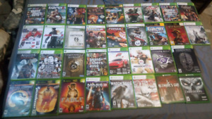 Xbox 360 with controller and games (no power box/cord)