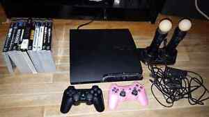 Playstation 3 Slim + PS Move + 10 Games