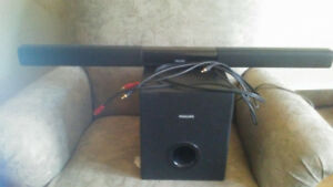 Phillips sound bar n bass