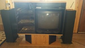 "Entertainment unit and a 27"" TV"