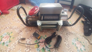 **10,000lbs Winch***BRAND NEW, NEVER **CABLES & CONNECTORS INCL*