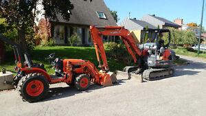 Excavatrice à louer avec opérateur