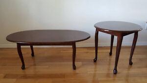 Ensemble de deux tables de salon