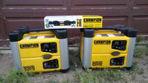 Two champion 2000 watt Inverter/Generators With Parallel Kit