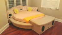 Luxury Leather Round Bedroom Set with STEREO SYSTEM !