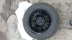 4 Lightly Used Snow tires on 16x6.5 steel wheels