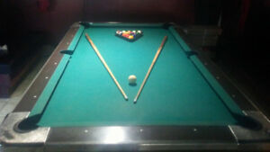 HOT DEAL - Pool table. coin operated. (optional)