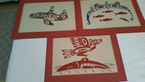 Silkscreen 1st Nations Prints - Set of 3