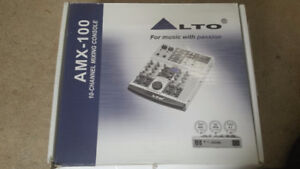 ALTO AMX - 100   10 Channel Mixing Console