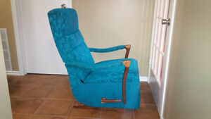 1960's Vintage Recliner Rocking Chair