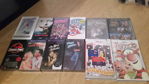 Lot of VHS movies  (some new, rare, collectible) 57 total