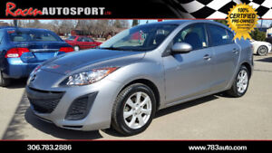 CERTIFIED 2011 MAZDA3 GX - $103 B/W - LOADED - YORKTON