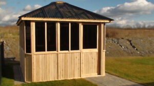 Amish built eastern white cedar gazebos - Financing available