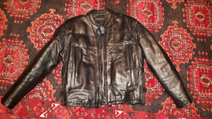 Women's Screaming Eagles Leather Jacket Size M