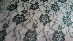 2 Bolts of lace material - Deep Forest Green