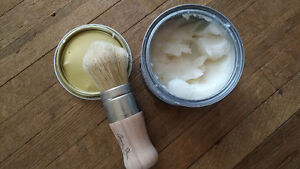 Annie Sloan brush and clear wax for chalk paint