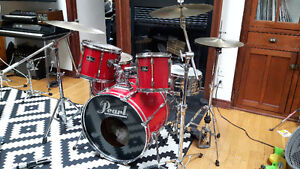 Kit de drum complet Pearl Export rouge batterie