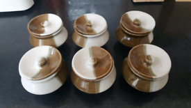 Pottery pots x 6