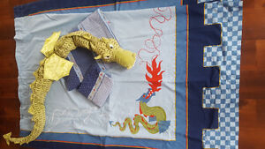 IKEA Duvet Cover and Curtain Set with Dragon! Cambridge Kitchener Area image 2