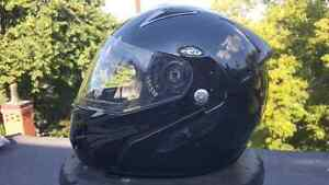 Zox motorcycle helmet with lift up chin guard