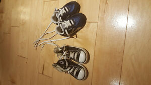 Size 4 shoes Converse and Reebok