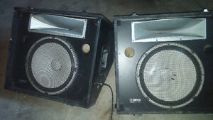 2 Yamaha S2115H Stage Monitor/Speakers. 15 inch woofers