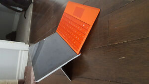 Microsoft Surface 3 (64GB) with bright red keyboard