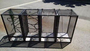 4 screen reptile cages 16 x 16 x 30