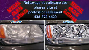 Nettoyage et polissage des phares/Cleaning and polishing the he