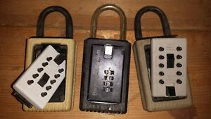 3 realtor type lock boxes