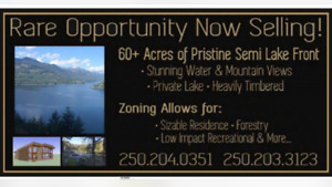 61 acre lot with timber and a lake!