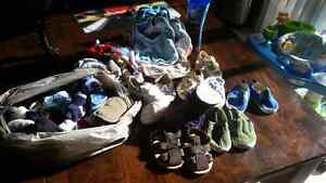 baby socks, shoes, bibs, slippers, hats, receiving blankets Cambridge Kitchener Area image 1