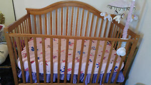 Baby bed + mattress + Chime toy (good condition)