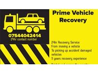 Prime vehicle recovery car and commercial