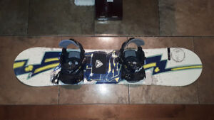 "46 1/2""  FIREFLY Snowboard with binders."
