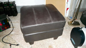 Leather Ottoman from the Historic Cabaret!