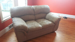 Comfy. Well used. Love seat