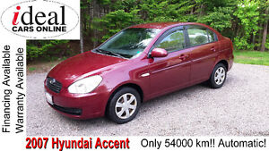 2007 Hyundai Accent---LOW MILEAGE!!---ONLY 54K!!---AUTOMATIC!!