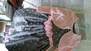 Pink and Grey Dress with jacket