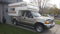 Secuirty 8.5 Camper + 2000 XLT DISEL Ford Truck F250 94,500 KM