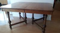 table antique en bois
