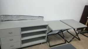 T.V Stand and 2 end tables for sale! Delivery Available.